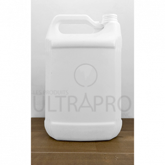 Bouteille 4L HDPE blanc snap lock rectangle 38-400