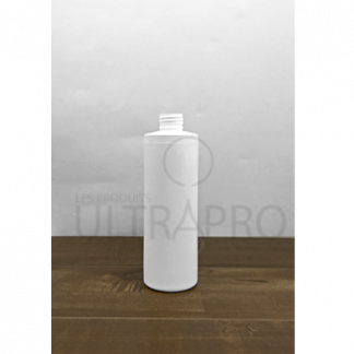 Bouteille 8oz/250ml HDPE blanc cylindrique 24-410